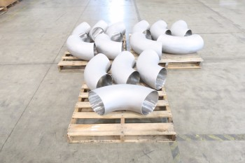 3 PALLETS (14) OF 10IN ELBOW PICOR FOOD GRADE PIPE FITTINGS, SCH 5S, 304SS