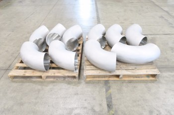 2 PALLETS(10) OF 10IN ELBOW PICOR FOOD GRADE PIPE FITTINGS, SCH 5S, 304SS
