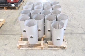 1 PALLET OF 8X2IN PICOR FOOD GRADE PIPE FITTINGS, SCH 5S, 304SS