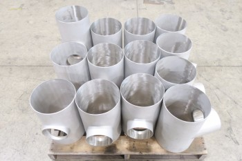 1 PALLET OF ASSORTED PICOR FOOD GRADE PIPE FITTINGS, SCH 5S, 304SS