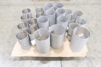 1 PALLET OF ASSORTED T PICOR FOOD GRADE PIPE FITTINGS, SCH 5S, 304SS