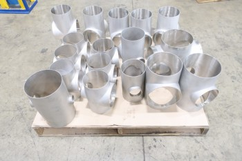1 PALLET OF ASSORTED 4-WAY PICOR FOOD GRADE PIPE FITTINGS, SCH 5S, 304SS