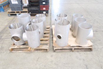2 PALLETS OF ASSORTED 12IN PICOR FOOD GRADE PIPE FITTINGS, SCH 5S, 304SS