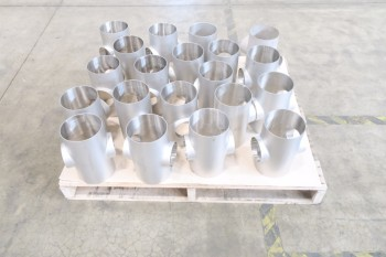 1 PALLET OF 6X4IN PICOR FOOD GRADE PIPE FITTINGS, SCH 5S, 304SS