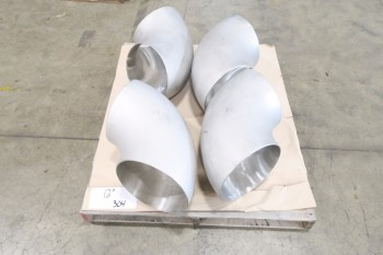 1 PALLET OF 12IN ELBOW PICOR FOOD GRADE PIPE FITTINGS, SCH 5S, 304SS
