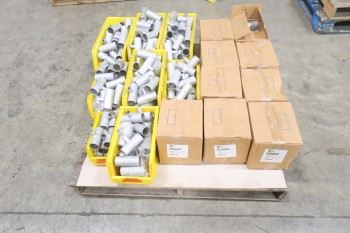 1 PALLET OF 1-1/2X1/2IN PICOR FOOD GRADE PIPE  FITTINGS, SCH 5S, 304SS