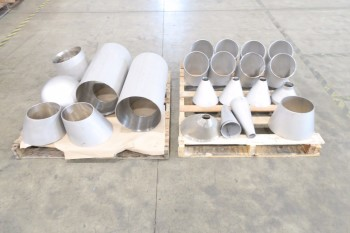 2 PALLETS OF ASSORTED PICOR FOOD GRADE PIPE FITTINGS, SCH 5S, 304SS