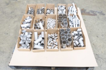 1 PALLET OF ASSORTED 1/2-1-1/2IN PICOR FOOD GRADE PIPE FITTINGS, SCH 5S, 304SS