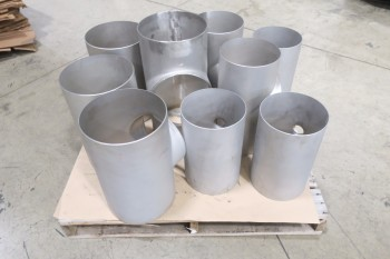 1 PALLET OF ASSORTED 10IN & 12IN PICOR FOOD GRADE PIPE FITTINGS, SCH 5S, 6-MOLY