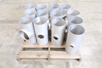 1 PALLET OF ASSORTED PICOR FOOD GRADE PIPE FITTINGS, SCH 5S, 6-MOLY