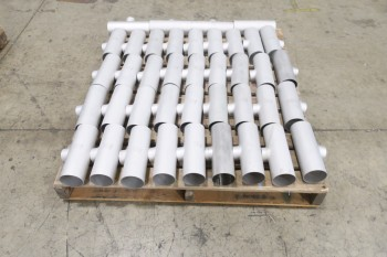1 PALLET OF 3X2IN PICOR FOOD GRADE PIPE FITTINGS, SCH 5S, 6-MOLY