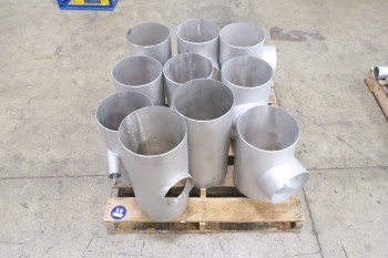 1 PALLET OF 10IN PICOR FOOD GRADE PIPE FITTINGS, SCH 5S, 6-MOLY