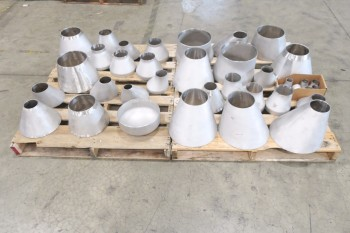 2 PALLETS OF ASSORTED PICOR FOOD GRADE PIPE FITTINGS, SCH 5S, 6-MOLY