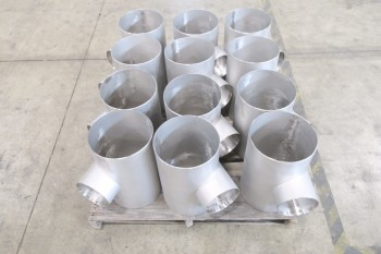 1 PALLET OF 10X6IN PICOR FOOD GRADE PIPE FITTINGS, SCH 5S, 6-MOLY