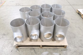 1 PALLET OF ASSORTED 10IN PICOR FOOD GRADE PIPE FITTINGS, SCH 5S, 6-MOLY