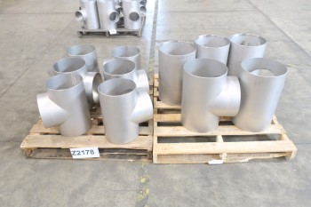 2 PALLETS OF ASSORTED T PICOR FOOD GRADE PIPE FITTINGS, SCH 5S, 6-MOLY