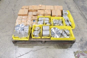1 PALLET OF ASSORTED TUBE-LINE & PICOR FOOD GRADE PIPE FLANGE FITTINGS, SCH 5S, 6-MOLLY