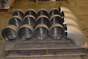 1 PALLET OF 8IN ELBOW PICOR FOOD GRADE PIPE FITTINGS, SCH 5S, 316SS