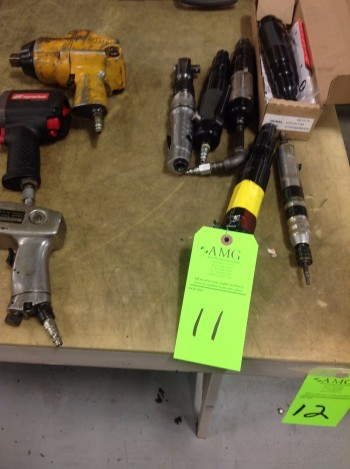 Lot of various Pneumatic hand Tools, Bostich Staplers, Pneumatic Air Chisels