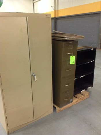 (2) Drawer Metal Cabinet, Vertical File Cabinet