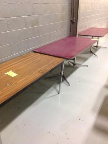 Lot of (10) Formica Tables, Metal Desk