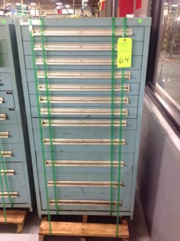 Stanley Vidmar 12 Drawer Tool Cabinet