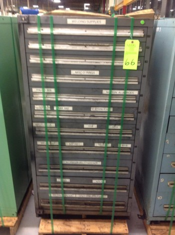 Stanley Vidmar 11 Drawer Tool Cabinet