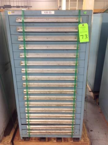 Stanley Vidmar 17 Drawer Tool Cabinet