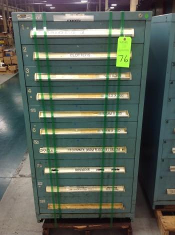 Stanley Vidmar 10 Drawer Tool Cabinet