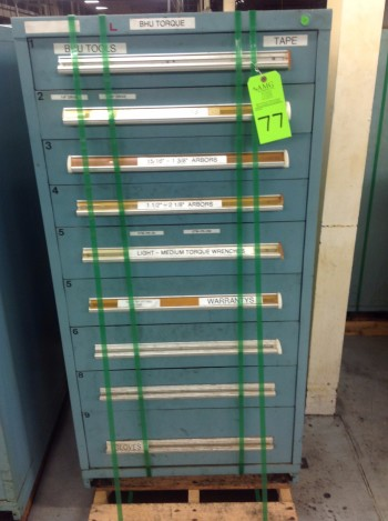 Stanley Vidmar 9 Drawer Tool Cabinet