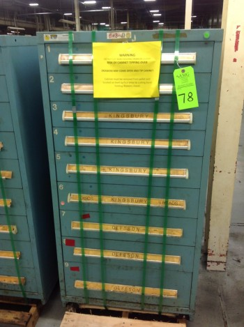Lot of (6) Stanley Vidmar Tool Cabinets