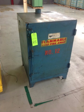 Lot of (2) Just-Rite Flammable Fire Cabinets