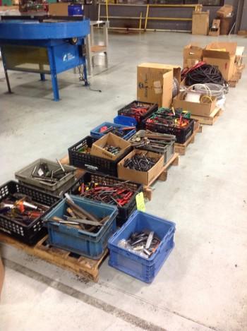 Lot of misc. Hand Tools, Hose, Air Lines, Coolant Pumps