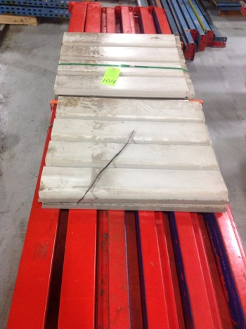 lot Metal heavy duty racking with roller decking