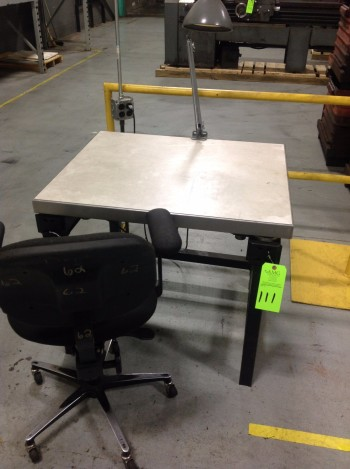 Table and chair,
