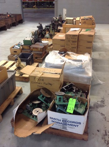 Lot of (13) Pallets w/ Gages (In process+post process), Fixtures