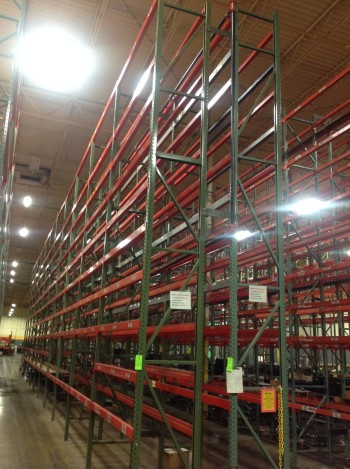 Lot of Steel pallet racking