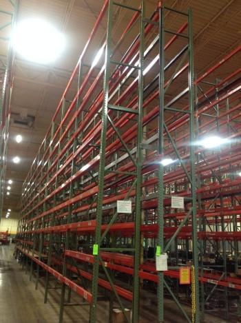 Lot of Steel pallet racking
