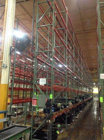 Lot of Steel Racking, Row 6-7, Rack 6-144,900 lbs weight cap.