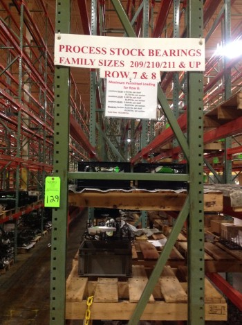 Lot of Steel Racking, Row 8-9, Rack 8-632,480 lbs weight cap.