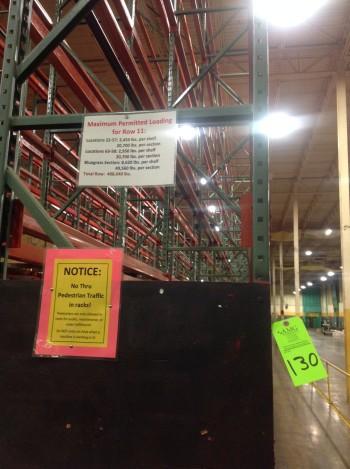Lot of Steel Racking, Row 10-11, Rack 10-488,040 lbs weight cap.