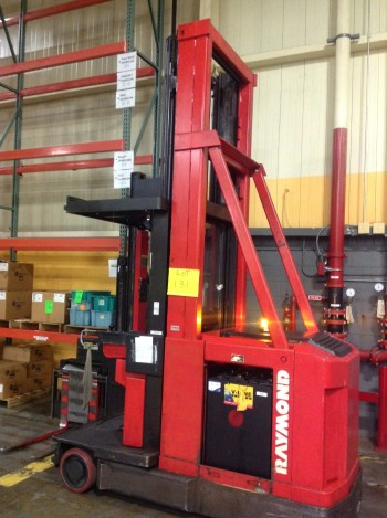 Raymond Swing reach Electric fork Truck , Guide by wire.