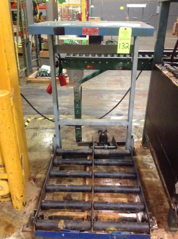 Lot of (2) Battery Change racks w/(2) Dayton winches