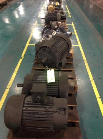 Lot of (12) Pallets w/ New & Used Motors