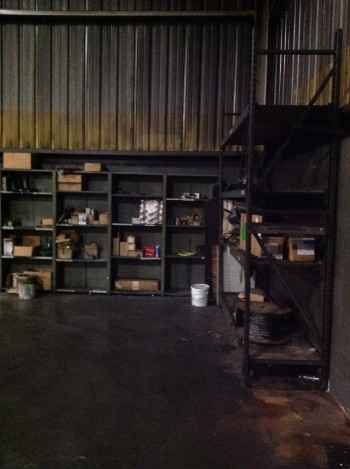Lot of Metal Shelving w/ spare Heat Treat parts