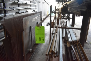 Lot of Conuit and misc metals and rack