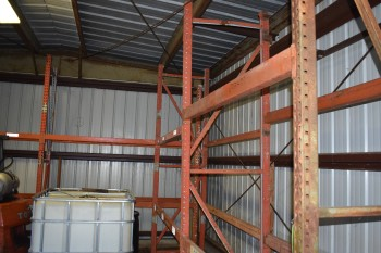 Lot of 4 sections of Metal Racking