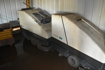 Lot of (3) Tennet model 465-ES Walk behind floor Scrubbers