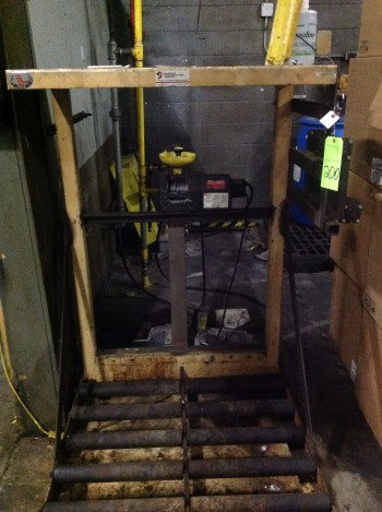 Battery Stand loader w/ Dayton winch, Located in Heat treat room
