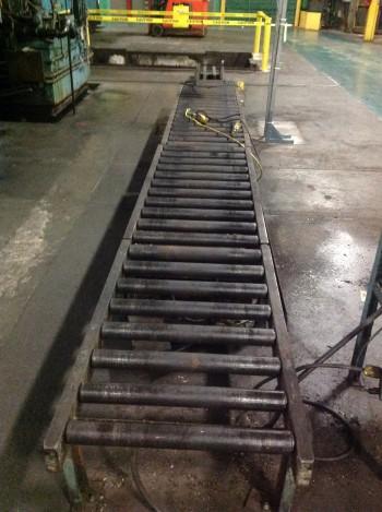 Approx. 25\' Roller Conveyor, Located in Heat treat room